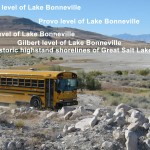 A great place to see all five major levels of Lake Bonneville and Great Salt Lake.