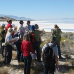University of Utah earth science class field trip to the interpretive center and Bonneville Nature Trail.